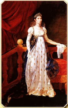 María-Ana-Elisa Bonaparte, gran duquesa de Toscana por Guillaume Guillon, 1806  Más en www.elgrancapitan.org/foro