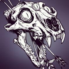 tiger skull - Buscar con Google