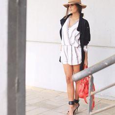 Fashion Books, Fashion Outfits, Love Hat, Love Her Style, Maje, Panama Hat, Style Inspiration, Blazer, Legs