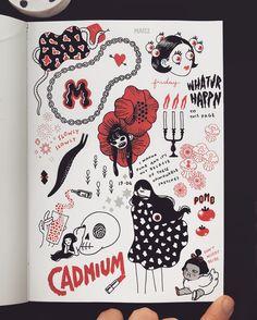 🌹💄🍅 sketchbook fun 🍒🎈♥️ Sketchbook Inspiration, Sketchbook Ideas, Drawing Journal, Circle Art, Art Corner, Visual Diary, Photo Reference, Female Art, Art Inspo