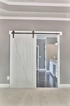 Door for bathroom from master bedroom. Plan Bright and Airy Craftsman House Plan / Master Bedroom View Dream House Plans, My Dream Home, Home Renovation, Home Remodeling, Bedroom Remodeling, Basement Renovations, Up House, Cottage House, House Floor