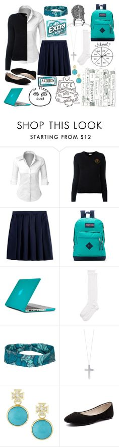 """""""Back To School (Catholic School Girl Style)"""" by ciaran-colleen ❤ liked on Polyvore featuring LE3NO, Yves Saint Laurent, Burberry, JanSport, Speck, Kate Spade, prAna, Eddie Borgo, Elizabeth Showers and Verali"""