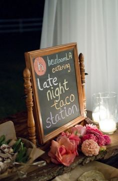 will need this at end of night... maybe have food truck waiting at house where wedding is! #snackstation #snackbar #weddingfoodstation