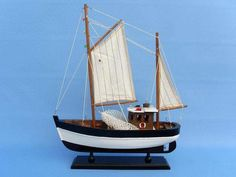 """Wooden Outcast Model Fishing Boat 18"""""""