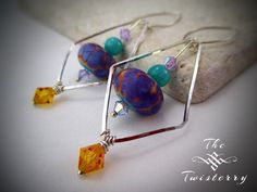 Psychedelic Jester Earrings - An original design by The Twisterry, LLC™ (www.thetwisterry.com). This image is protected under the CC BY-SA License (https://creativecommons.org/licenses/by-sa/3.0/us/)