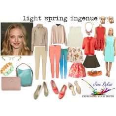light spring ingenue by expressingyourtruth on Polyvore featuring Kate Spade, J Brand, P.A.R.O.S.H., Boden, Miz Mooz and CAbi