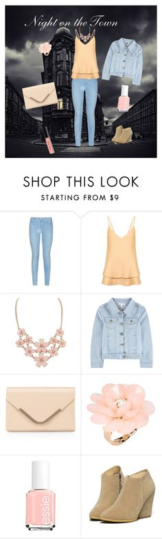 """Night on the Town"" by kwiggins2021 on Polyvore featuring 7 For All Mankind, C/MEO COLLECTIVE, Accessorize, Dettagli, Essie, WithChic and Bobbi Brown Cosmetics"