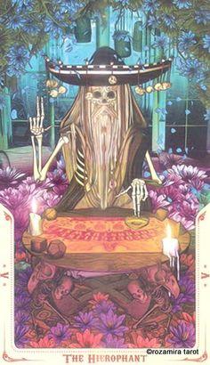 Santa Muerte Tarot Hierophant Pick A Tarot Card, All Tarot Cards, Symbolic Art, The Hierophant, Online Tarot, Tarot Major Arcana, Tarot Decks, Dark Art, Art Inspo