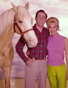 "Mister Ed and Alan Young    With apologies to Trigger, TV's most famous horse is probably MISTER ED. The title star of a 1960s sitcom, Ed was a talking horse who brought endless grief to his owner, Wilbur Post. Wilbur wasn't really ""highly effective,"" but the part became the signature role for actor ALAN YOUNG. Absurd as the show was, Mister Ed became one of the biggest hits of the 1960s and spawned a well-known theme song beginning ""A horse is a horse, of course, of course..."""