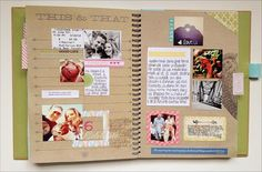 and a couple smash book pages