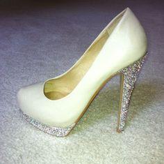 DIY Strassed Pumps :D :  wedding aldo diy heel pumps shoes