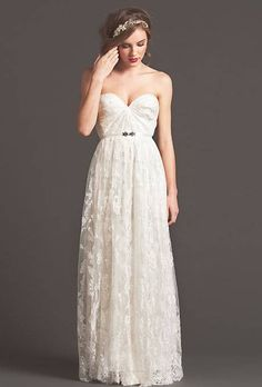 Perfect wedding dress simple cute and chic will go perfect with rose gold wedding ring