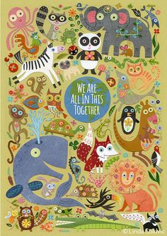 We Are All In This Together Print 8.5 x 11 by Linda Solovic on Etsy