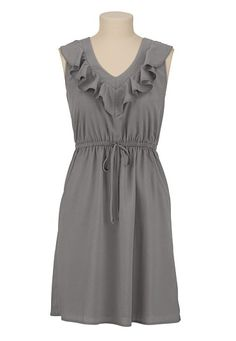 Ruffle Front V-Neck Dress available at #Maurices their red color is gorgeous