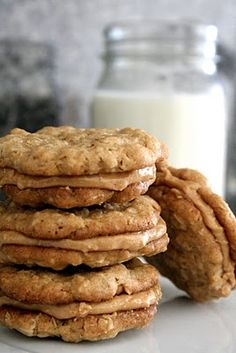 Half-way to Heaven Peanut Butter Cookies. #food #cookies