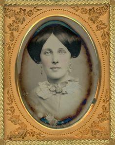 +~+~ Antique Photograph ~+~+  Stunning Woman ~ Ninth Plate Daguerreotype, ca.1856.