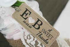 Wedding Favour Gift Tag Thank You Tag 'A Sweet by DoodleDaisy