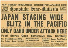 Pearl harbour Japan staging Blitz Manila Guam December 9 1941 honolulu Star PWD