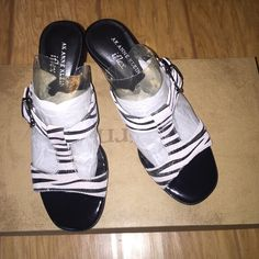 AK ANNE KLEIN Zebra print heels. NWOT Anne Klein heels, NWOT. Perfect for any outfit. One of a kind. Never worn, everything in place.  5 1/2 Men's (W/ out box.) (I always ship within 1 business day guaranteed) (No trades please) Anne Klein Shoes Heels
