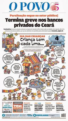 Ilustração pra capa do jornal O POVO (tema Dia da Criança)