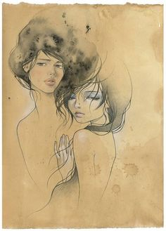 Entwined (collaboration) by Audrey Kawasaki & Stella Im Hultberg
