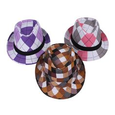 $1.6   Fashion Cotton Plaid Print Fedora Hats Children Kids Jazz Cap Sun Beach Hat http://www.eozy.com/fashion-cotton-plaid-print-fedora-hats-children-kids-jazz-cap-sun-beach-hat.html
