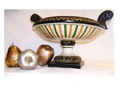Unique vintage Spanish fruit bowl handpainted carved by alexvos, $300.00