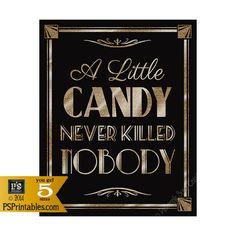 Ein wenig druckbare CANDY nie niemand getötet Art von PSPrintables