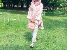 Pink hijab ootd
