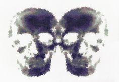 Inkblots Giclee Print | Phil Davison Art Skull Art London Art Street Art Tatto Art Cross Stitch XXX STITCH Urban Cross Stitch Phil Davison Egg Egg Art Sew Needle Point