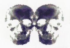 Inkblots Giclee Print | Phil Davison Art Skull Art  London Art Street Art  Tatto Art  Cross Stitch XXX STITCH  Urban Cross Stitch  Phil Davison  Egg Egg Art  Sew  Needle Point