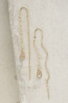 Lagrima Threaded Earrings #Anthropologie