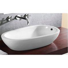 Caracalla by Nameeks CaracallaCA4082 Ceramica No Hole Round Vessel Bathroom Sink in White