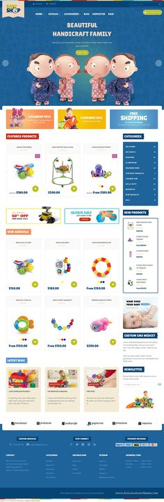 Babyshop Responsive Shopify Theme has a very simple design that is very popular…