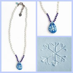 Art Bead Scene Blog: On the 1st Day of Christmas: Snowflake Necklace