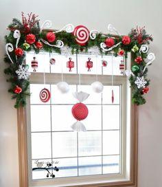 adornos de navidad para ventanas - Buscar con Google