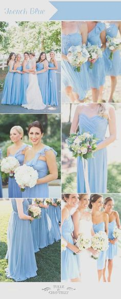 romantic french blue summer wedding color and bridesmaid dresses bridesmaids blue Top Ten Wedding Colors For Summer Bridesmaid Dresses 2016 Tiffany Bridesmaid Dresses, Orange Bridesmaid Dresses, Blue Bridesmaids, Wedding Bridesmaids, Wedding Dresses, Bridesmaid Color, Color Celeste, Summer Wedding Colors, Summer Colors