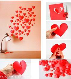 Archivero Fotografico : manualidad para poder llevar a cabo con sus pequeños D5d012e854bd6fb4f4a65217def5a0f0--paint-decor-paper-hearts