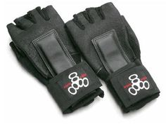 0cc9aeb7b1d134 Triple 8 Hired Hands wrist guards (on Back Alley Skates.)
