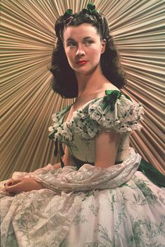 Vivien Lee as Scarlett/ Gone With the Wind.