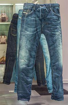 Diesel - Jogging pants with jeans look