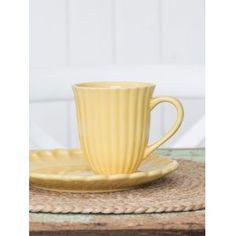 Hrnček Mynte Lemon zest 300 ml Stoneware, Vintage, Tableware, Cold, Sun, Yellow, Summer, Decor, Decoration