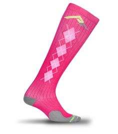 """Pink Argyle Pro Compression Socks-Use discount code """"PINK2"""" for 40% off all purchases! Good thru December 15th!"""