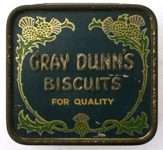 Early C20 miniature Gray Dunn's Biscuits sample tin by Tinternet