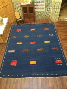 This is recently sold out berber rugs , you can inspire your custom made rugs here ! Saddle Blanket, Blue Carpet, Berber Rug, Kilim Rugs, Moroccan, Bohemian Rug, Hand Weaving, Creative, Handmade