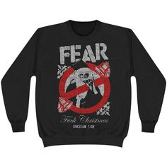 FEAR Fuck Christmas Ugly Xmas Sweatshirt  #fear #christmas #xmas #music #rock #metal #bands #holiday #rockabilia #merchandise #licensedmerchandise #deckthehalls #uglysweater