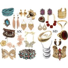 """""""Soft Natural vs. Soft Dramatic - Jewelry"""" by sensualbohemian on Polyvore"""