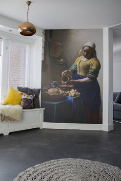 Woonbeton - Cementgebonden gietvloer : Moderne woonkamers van Motion Gietvloeren