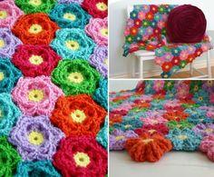 Flower Crochet Blanket Pattern