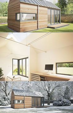 backyard offices by British company Pod Space